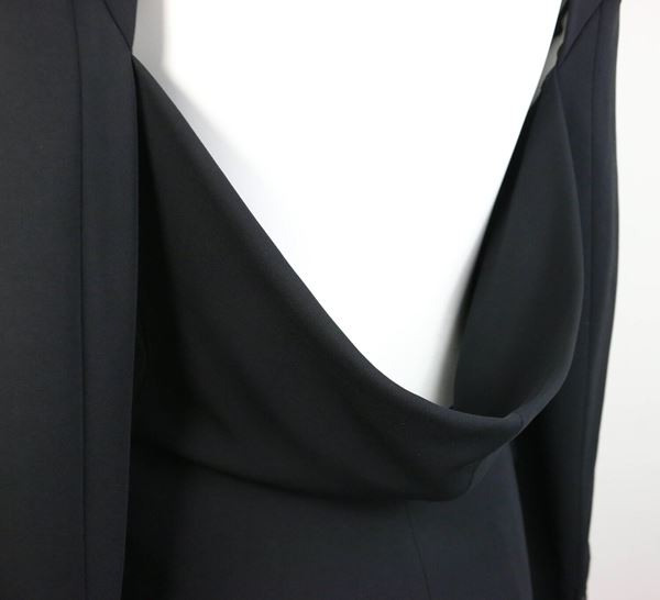 plein-sud-black-open-back-jacket-with-tube-top-2