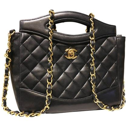 chanel-classic-black-quilted-lambskin-leather-two-ways-shoulder-bag-2