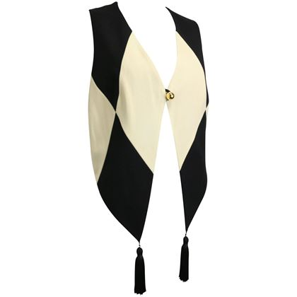 moschino-cheap-and-chic-black-and-white-harlequin-waistcoat-with-tassels-2