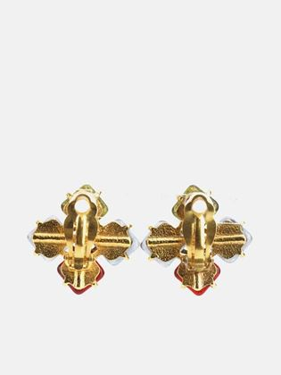 chanel-gold-plated-square-multi-colour-gripoix-with-cc-clip-on-earrings-2