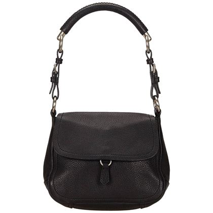 prada-black-leather-flap-shoulder-bag-2