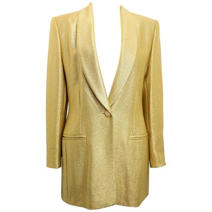 escada-couture-gold-toned-metallic-shinny-shawl-blazer-2