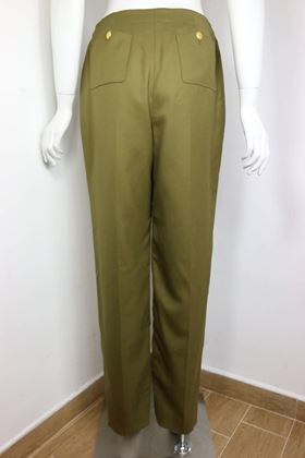 chanel-army-green-wool-military-style-straight-leg-pants-2