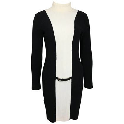 paco-rabanne-black-and-white-high-neck-panel-dress-2