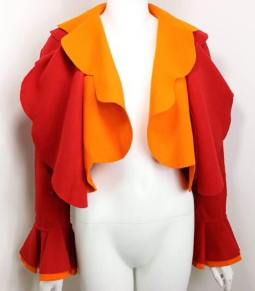 moschino-couture-red-and-orange-wool-cropped-ruffle-jacket-2