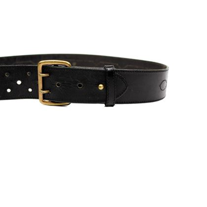 alaia-vintage-belt-75-us-26-27-black-leather-gold-buckle-dual-notch-2