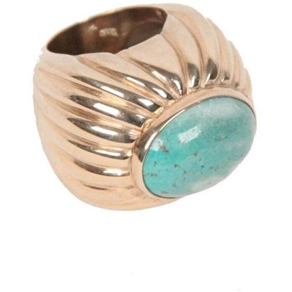 vintage-sterling-silver-925-gilded-statement-ring-turquoise-cabochon-3