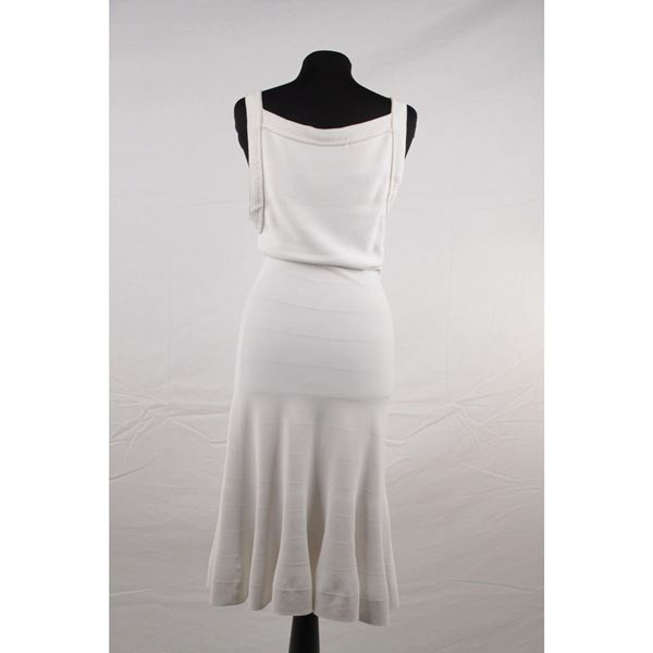 azzedine-alaia-white-stretch-fit-flare-midi-dress-sleeveless-v-neck-2