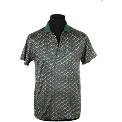 celine-homme-green-flags-pattern-polo-shirt-short-sleeve-size-s-2