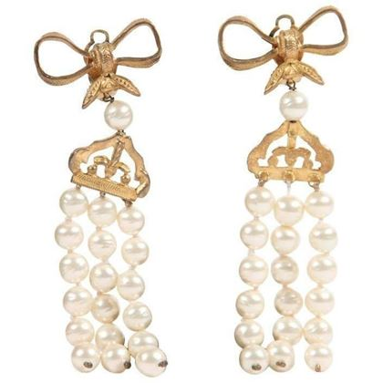 chanel-vintage-3-strands-faux-pearl-string-earrings-bow-detail-w-box-3