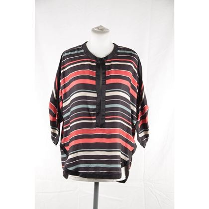 isabel-marant-etoile-multicolor-striped-textured-silk-blouse-top-size-40-3
