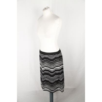 m-missoni-black-white-light-weight-knit-a-line-skirt-size-42-2