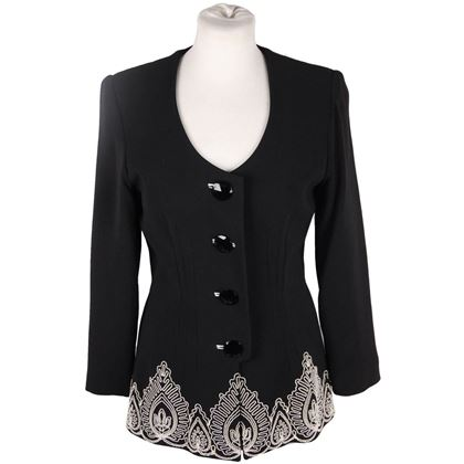 gai-mattiolo-couture-black-collarless-jacket-w-embroidery-size-42-2