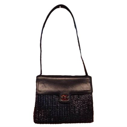chanel-black-wicker-rattan-and-leather-shoulder-bag-2