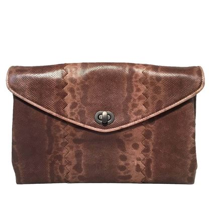 bottega-veneta-brown-lizard-leather-clutch-2