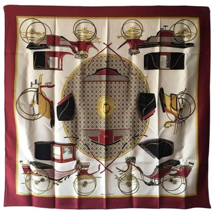 hermes-vintage-les-voitures-a-transformation-silk-scarf-in-red-c1960s-2