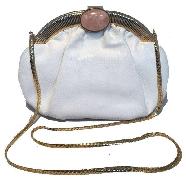 judith-leiber-vintage-white-lizard-leather-clutch-2