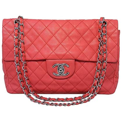 chanel-dark-pink-relaxed-caviar-leather-jumbo-classic-flap-shoulder-bag-2