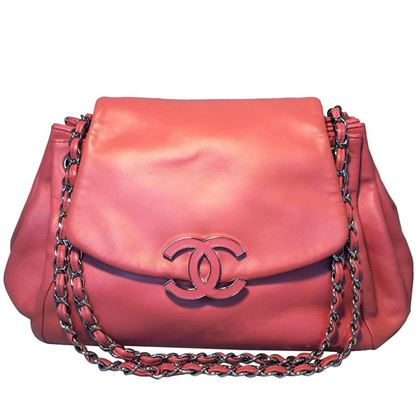 6821b98164e8 ... chanel-coral-leather-top-flap-shoulder-bag-2