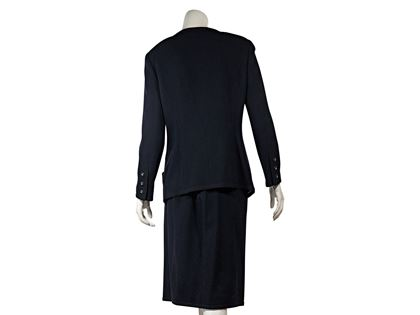 f283b1e683 Navy Vintage Chanel Skirt Suit Set ...