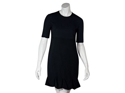 Black & Navy Blue Stella McCartney Ruffle Hem Dress
