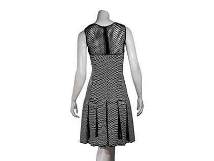 Black & White Oscar de la Renta Drop-Waist Dress