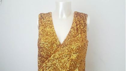 2000s-halston-heritage-gold-sequins-embelisshed-dress-2