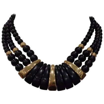 napier-black-gold-stone-necklace-2