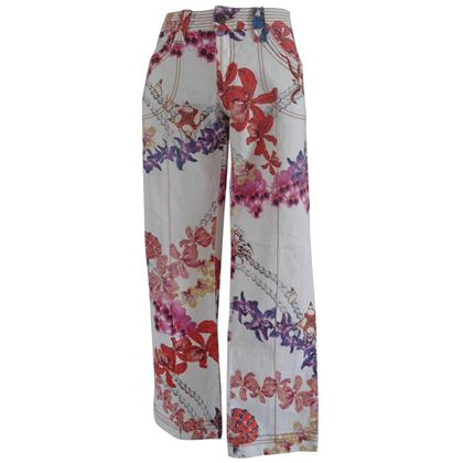 roberto-cavalli-multicolour-flowers-cotton-jeans-2