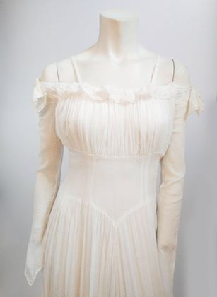 1940s-white-swiss-dot-wedding-dress
