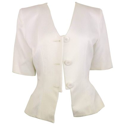 yves-saint-laurent-white-cotton-chevron-pattern-short-sleeves-blazer