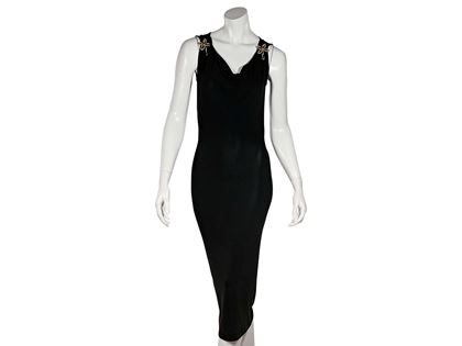 black-dolce-gabbana-knee-length-dress-xxs-black