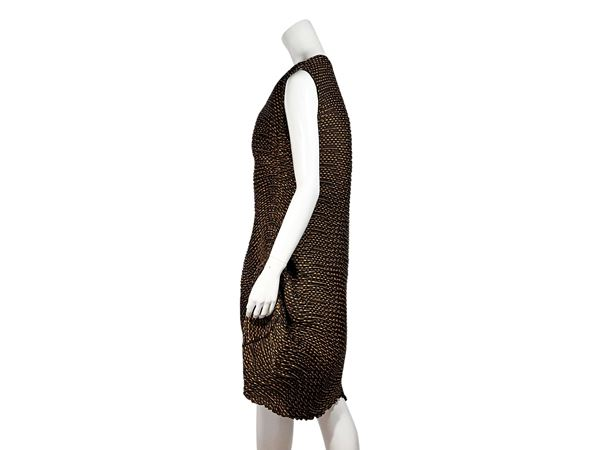 brown-orange-issey-miyake-pleated-dress-2-brown
