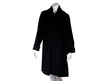 black-celine-cashmere-wool-blend-coat-m-black