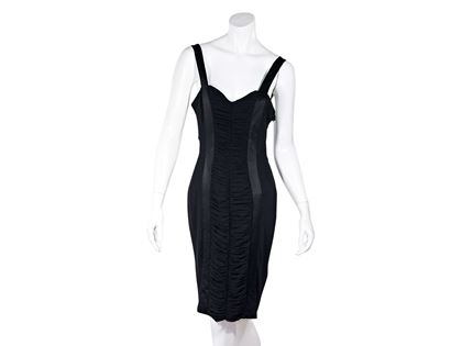black-blumarine-ruched-sheath-dress-8-black