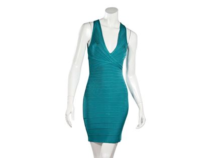 teal-herve-leger-bodycon-mini-dress-s-teal