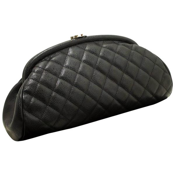 chanel-caviar-timeless-clutch-bag-black-quilted-silver-hardware
