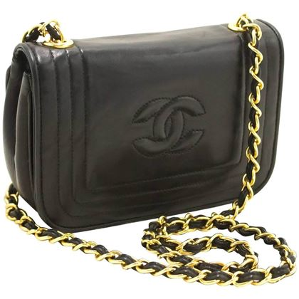 chanel-small-chain-shoulder-bag-black-quilted-flap-lambskin