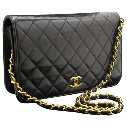 chanel-navy-chain-shoulder-bag-clutch-quilted-flap-lambskin
