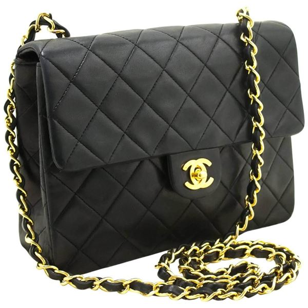 chanel-mini-small-chain-shoulder-bag-crossbody-black-quilted-flap-13
