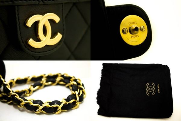 chanel-chain-shoulder-bag-clutch-black-quilted-flap-lambskin-purse-40