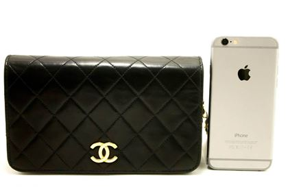 chanel-small-chain-lambskin-shoulder-bag-clutch-black-quilted-flap