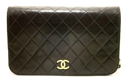 chanel-chain-black-quilted-flap-lambskin-shoulder-bag-clutch