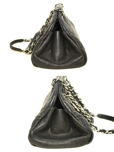 chanel-caviar-bowling-chain-black-quilted-leather-sv-shoulder-bag
