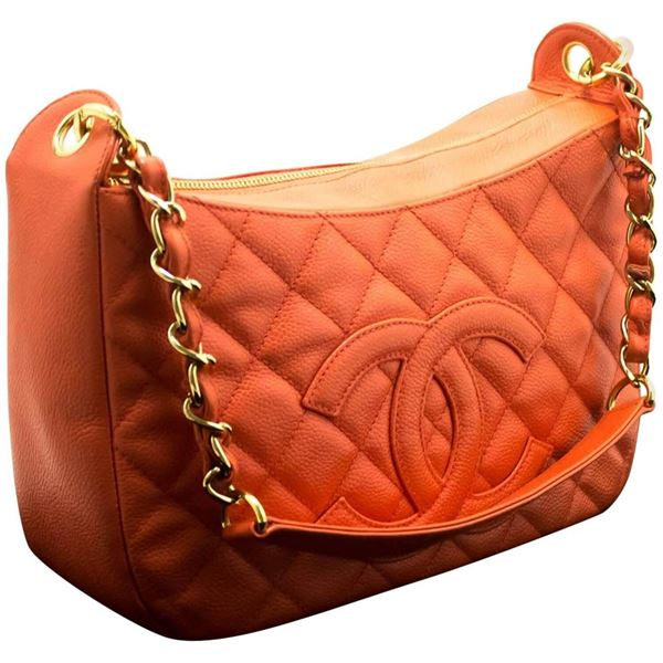 chanel-caviar-chain-one-shoulder-bag-pink-quilted-leather-zipper