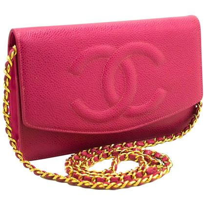 chanel-caviar-wallet-on-chain-woc-hot-pink-shoulder-bag-crossbody
