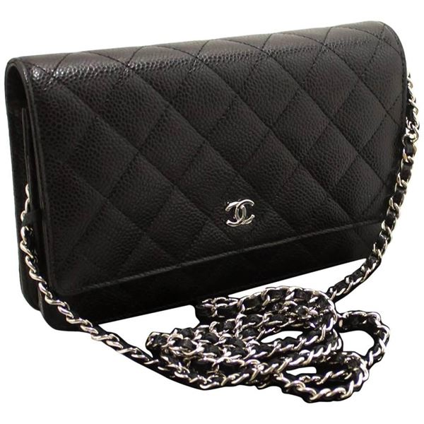 never-used-chanel-caviar-wallet-on-chain-woc-black-shoulder-bag