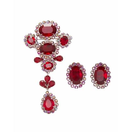 1950s-henkel-grosse-for-christian-dior-brooch-and-earrings-set