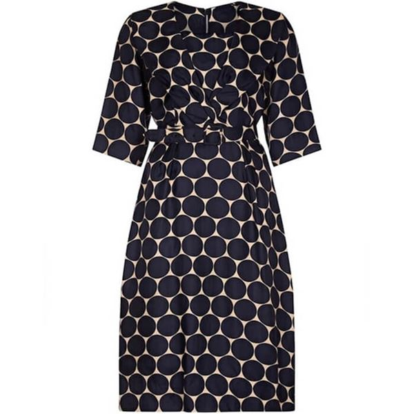 leslie-fay-1950s-silk-navy-and-cream-circle-print-dress-with-belt-uk-size-10-12