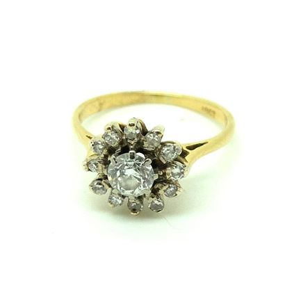 antique-edwardian-18ct-diamond-daisy-gemstone-engagement-ring